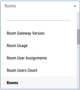 Report types dropdown menu
