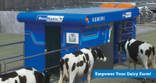 BouMatic introduces Gemini: the milking robot that doubles your advantages