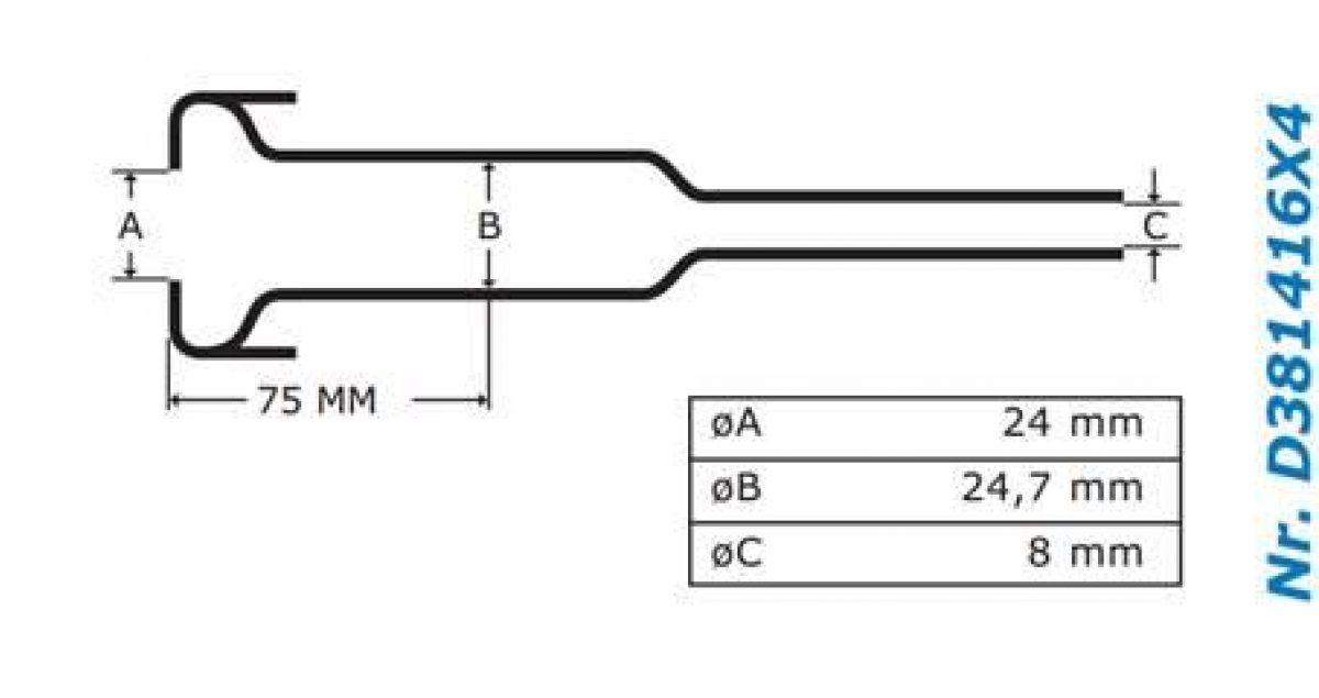 Gascoigne Melotte Liner 416: For flared end shells