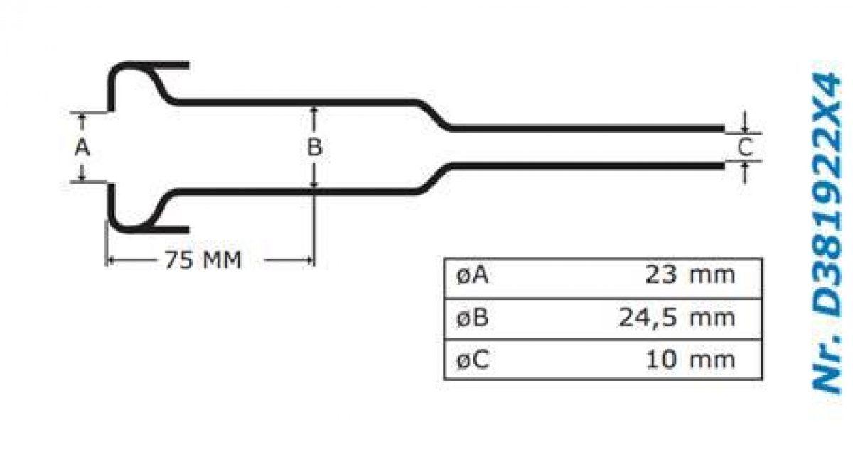 Gascoigne Melotte Liner 922: For straight end shells