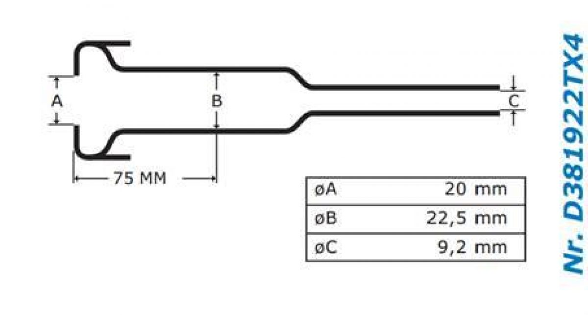Gascoigne Melotte Liner 922T: For straight end shells