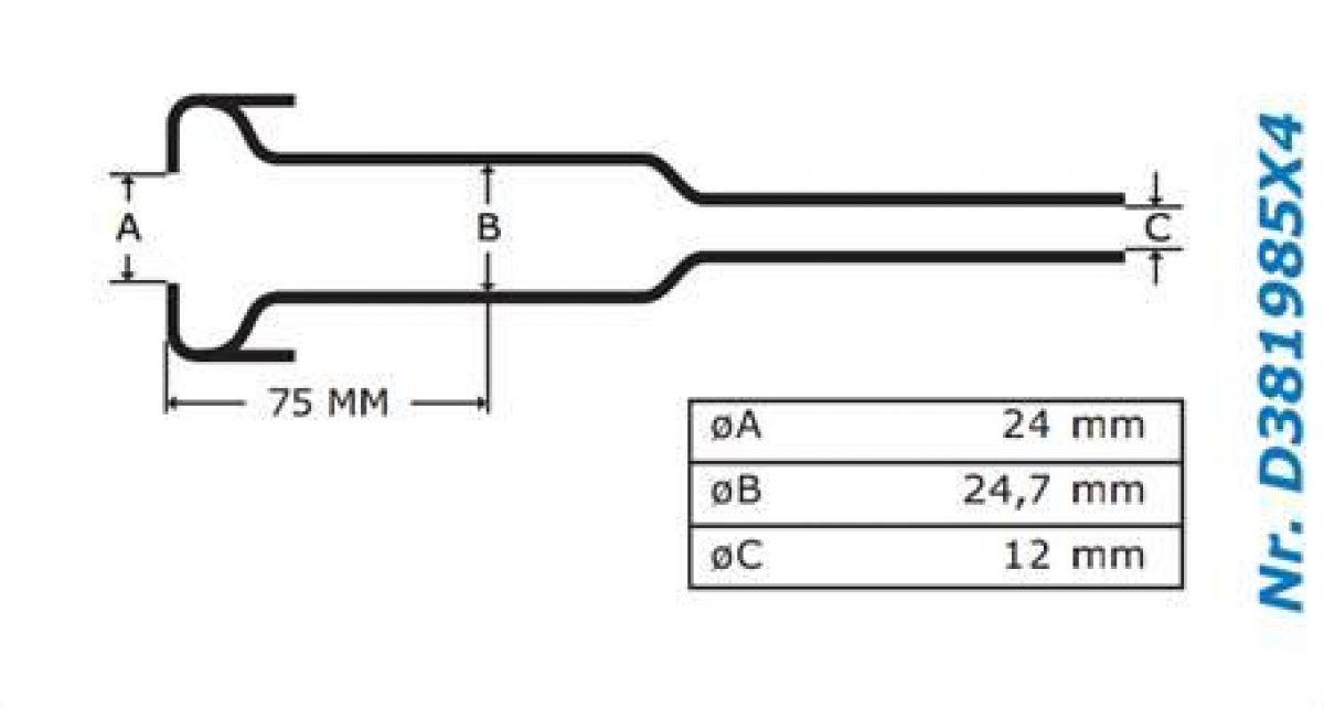 Gascoigne Melotte Liner 985: For flared end shells