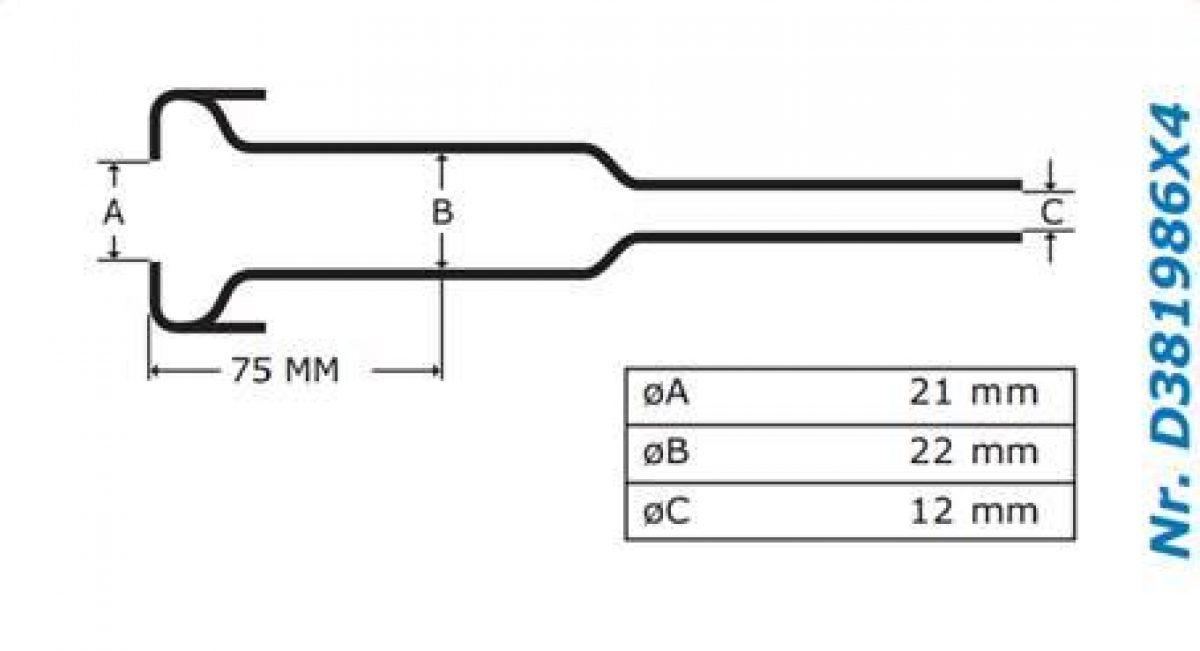 Gascoigne Melotte Liner 986: For straight end shells