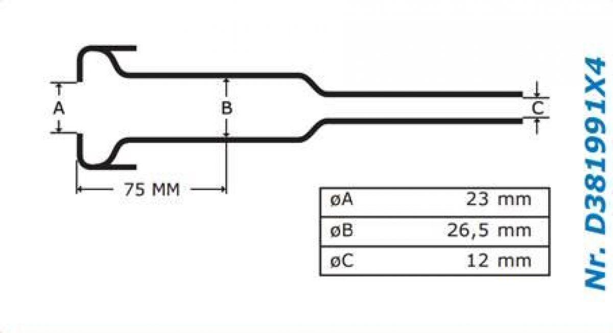 Gascoigne Melotte Liner 991: For straight end shells