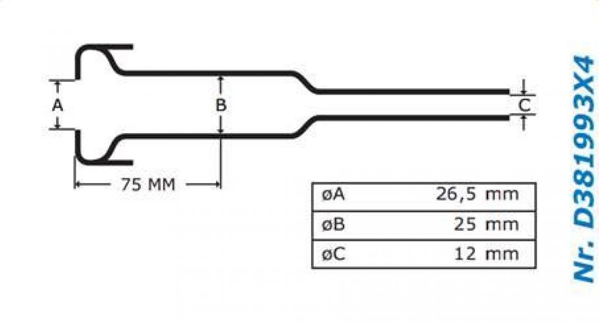 Gascoigne Melotte Liner 993: For straight end shells