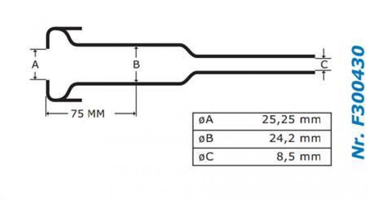Gascoigne Melotte Liner Mk2H: For straight end shells