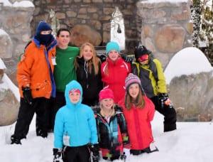 In the snow ski trip