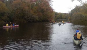 Boy Scout Troop canoeing