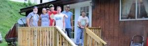 ZSeniro Youth Mission construction crew