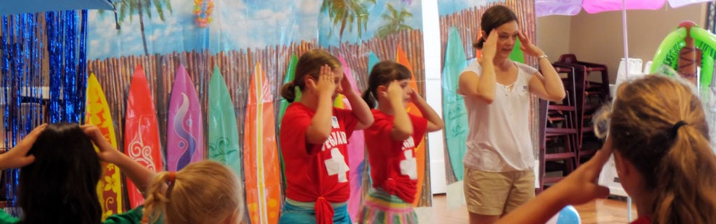Youth volunteers at Vacation Bible School