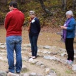 praying the labyrinth at Shrine Mont