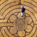 labyrinth at Chartres Cathedral from above