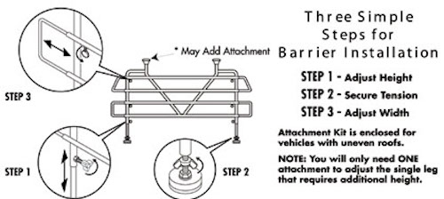 Vehicle Pet Barrier Installation Instructions