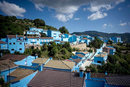 The Smurf Village Where Everything Is Blue - Except The Mood!