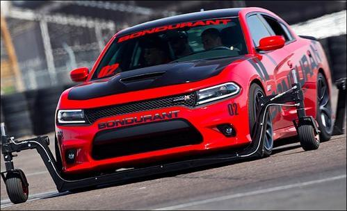 Bondurant Racing School- Dodge Hellcat with training wheels-things to do in phoenix-min