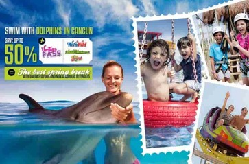 Swim With Dolphins in Cancun & RIviera Maya Plus Ventura Park Admission.
