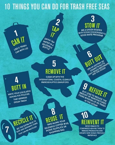 10 things you can do for trash free seas-infographic-dolphinaris-beach cleaning