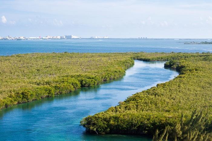 La bahía de Cancún.
