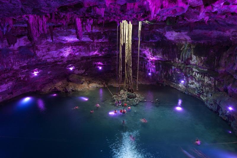 Los cenotes forman parte de los atractivos de la Riviera Maya.