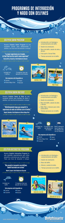 Programas de nado con delfines en Dolphinaris.