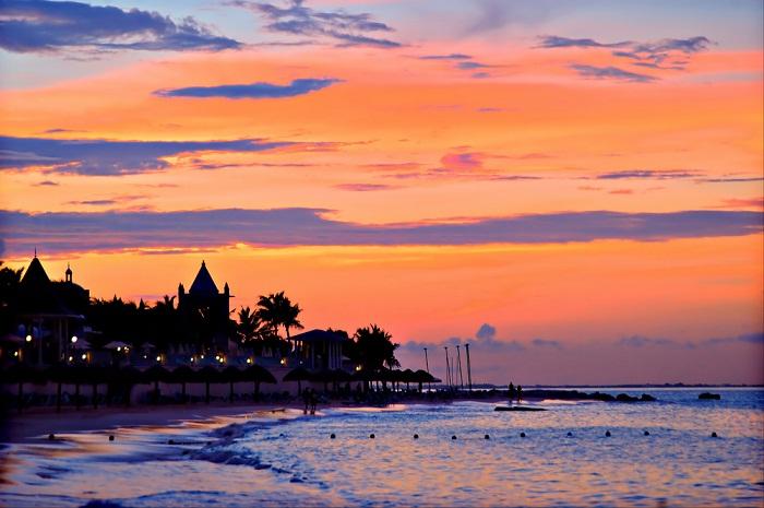 Puesta de Sol en Cancún.