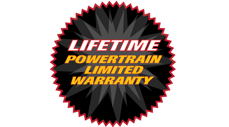 Lifetime Powertrain Limited Warranty