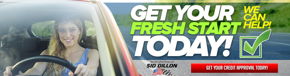 Get Approved today @ Sid Dillon