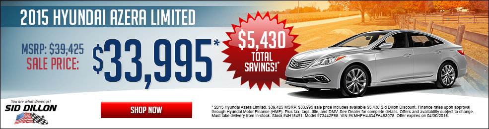 Special offers on the new 2015 Hyundai Elantra at Sid Dillon Lincoln