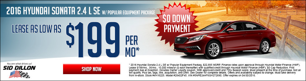 Special offers on the new 2015 Hyundai Sonata at Sid Dillon Lincoln