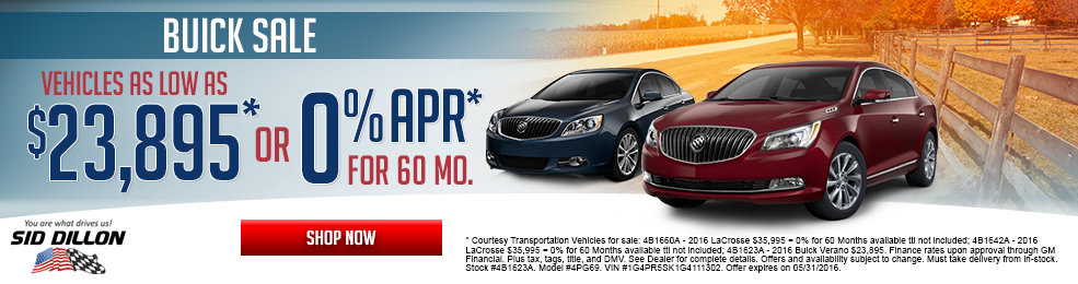 Get a great deal on a new Buick this month at Sid Dillon Lincoln