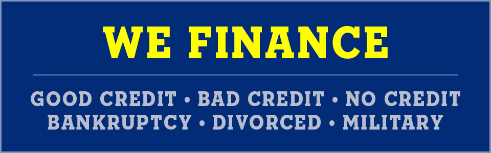 we finance bankruptcy bad credit divorce no credit military