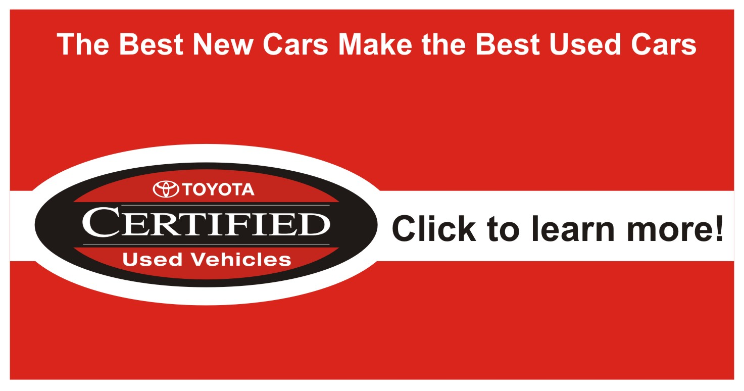 Learn more about Toyota's Certified Used Vehicle Program TCUV and certified vehicles available at University Toyota in Morgantown, WV