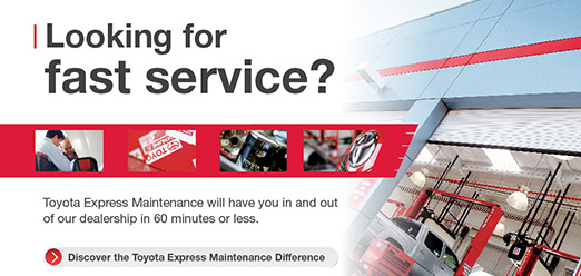 Get Toyota Express Maintenance TXM service at University Toyota