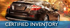 Certified Honda Inventory