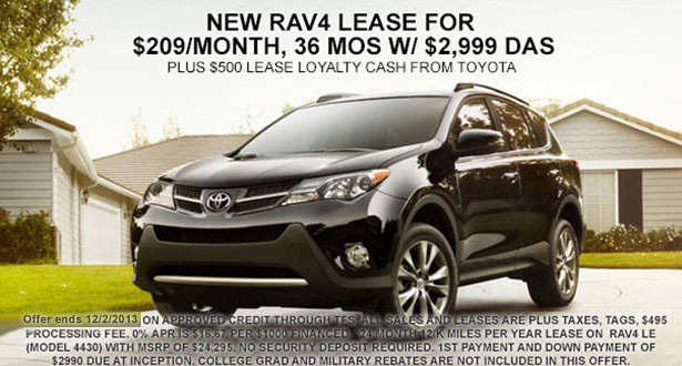 Lease Rav4 Bill Page Toyota