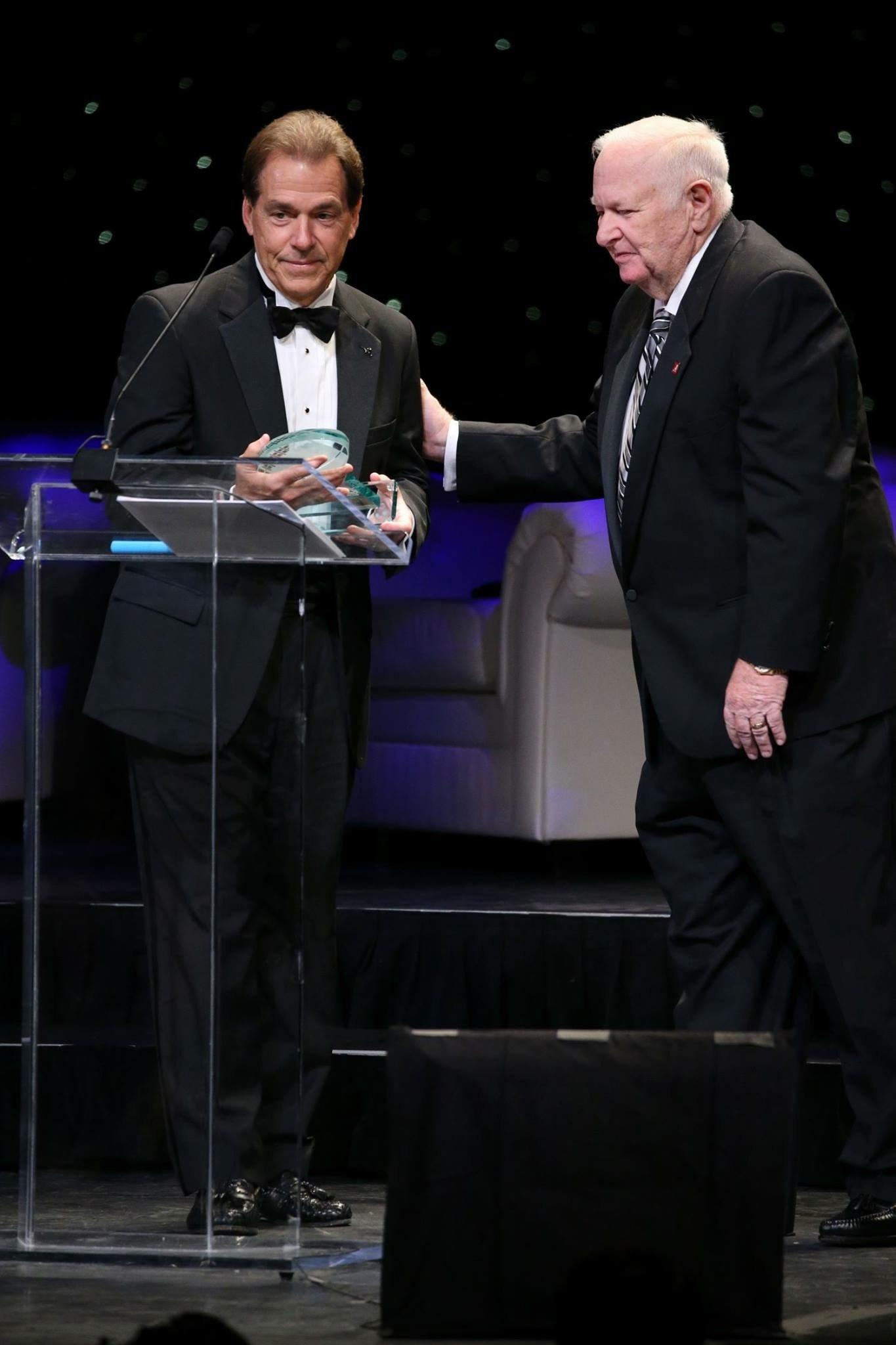 winner of the award Nick Saban