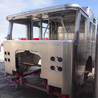 Attleboro MA Pierce Fire Truck in Production
