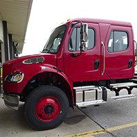 Benson VT Pierce Fire Truck in Production