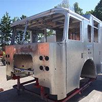 Dennis MA Pierce Fire Truck in Production