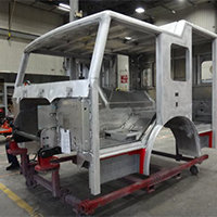 Londonderry NH Pierce Fire Truck in Production