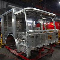 Woburn MA Pierce Fire Truck in Production