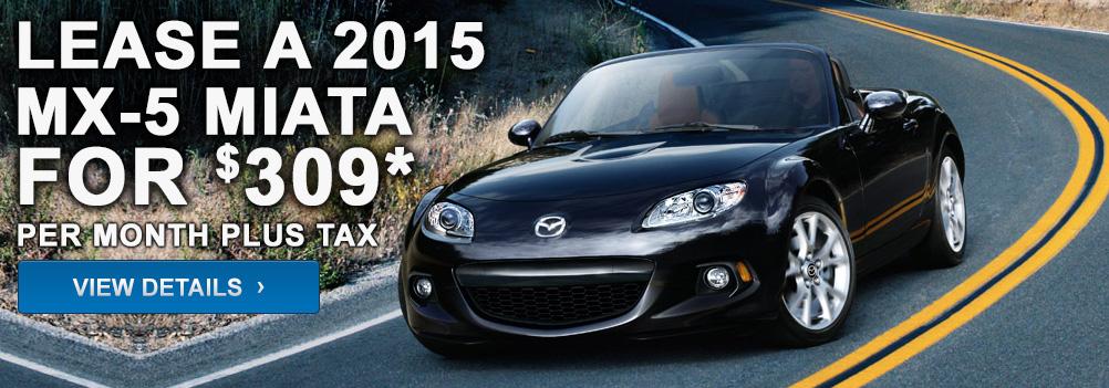 Lease a 2015 MX-5 Miata for $309* per month