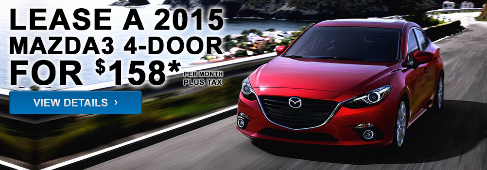 Lease a 2015 Mazda3 4-Door for $158* per month