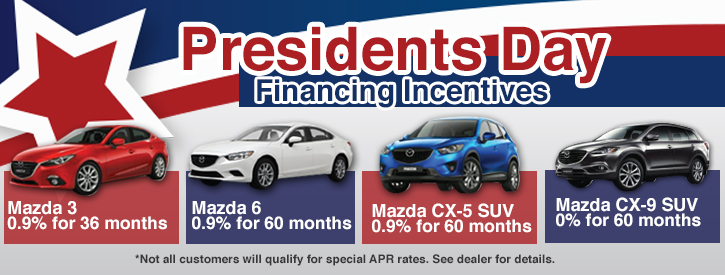 Presidents Day Mazda Incentives