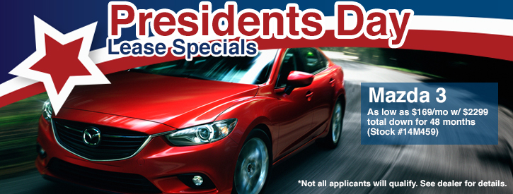 Presidents Day Mazda3 Lease Specials