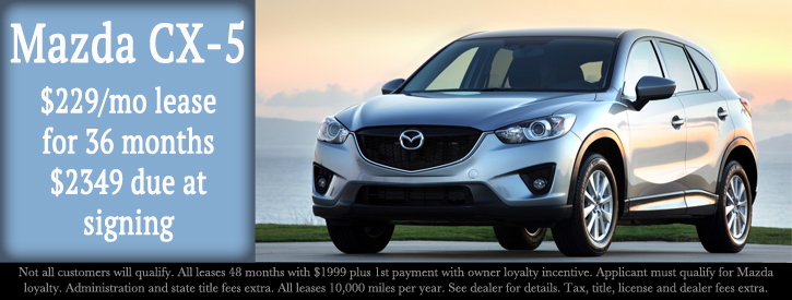 Mazda CX-5 Incentives