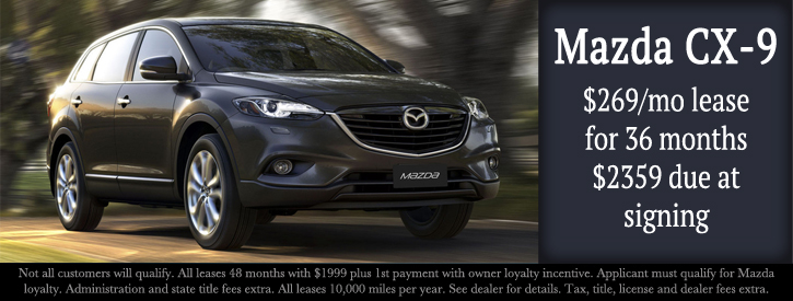 Mazda CX-9 Lease Incentives