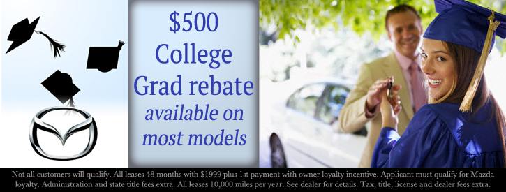 Werner Mazda offers several college incentives for recent grads