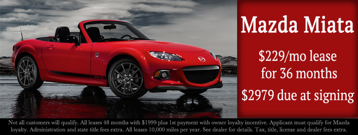 Mazda Miata Incentives