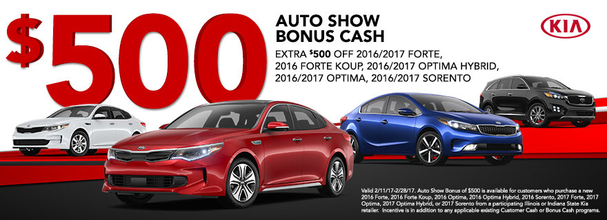 Illinois Indiana Auto Show Bonus Cash